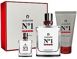 Parfumuri și produse cosmetice Aigner No 1 Sport - Set (edt/100ml + edt/8ml + sh/gel/150ml)