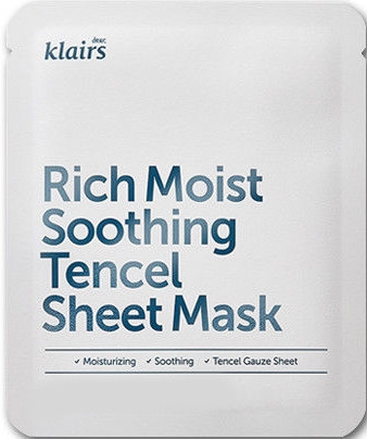 Mască de față - Klairs Rich Moist Soothing Tencel Sheet Mask
