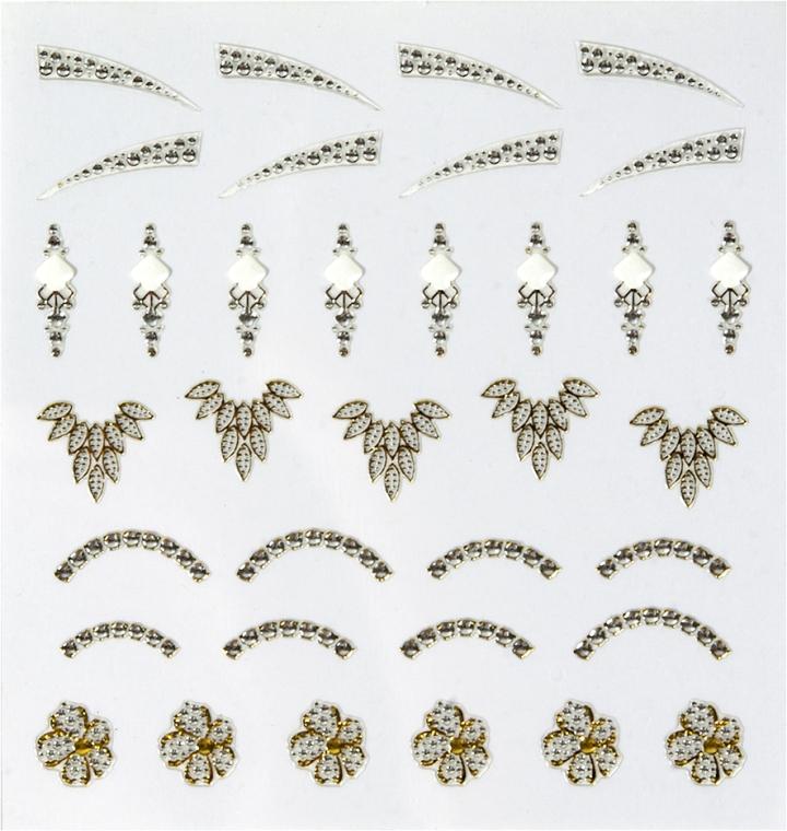 """Abțibilduri pentru unghii """"Perlă"""" - Peggy Sage Decorative Nail Stickers Jewel"""
