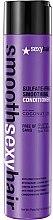 Parfumuri și produse cosmetice Balsam pentru păr fragil - SexyHair SmoothSexyHair Anti-Frizz Conditioner