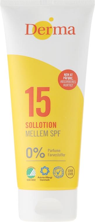 Loțiune de corp pentru protecție solară - Derma Sun Lotion SPF 15 — Imagine N1