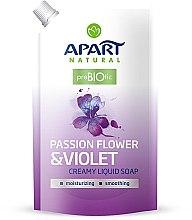 """Parfumuri și produse cosmetice Săpun lichid """"Floarea pasiunii și violă"""" - Apart Natural Passion Flower & Violet Soap (doypack)"""