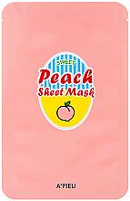 Parfumuri și produse cosmetice Mască de față cu extract de piersici si iaurt - A'Pieu Peach & Yogurt Sheet Mask