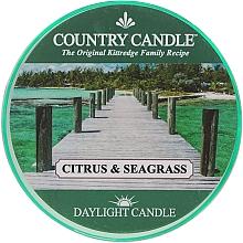 Parfumuri și produse cosmetice Lumânare de ceai - Country Candle Citrus & Seagrass Daylight