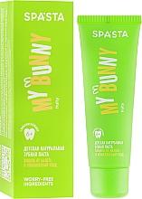 """Parfumuri și produse cosmetice Pastă naturală de dinți pentru copii """"Protecția plăcii și îngrijire cuprinzătoare"""" - Spasta My Bunny"""