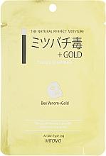 """Parfumuri și produse cosmetice Mască din țesătură pentru față """"Aur și Venin de albie"""" - Mitomo Essence Sheet Mask Bee Venom + Gold"""
