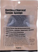 Parfumuri și produse cosmetice Sponge-konnyaku cu cărbune - Purito Bamboo Charcoal Konjac Sponge