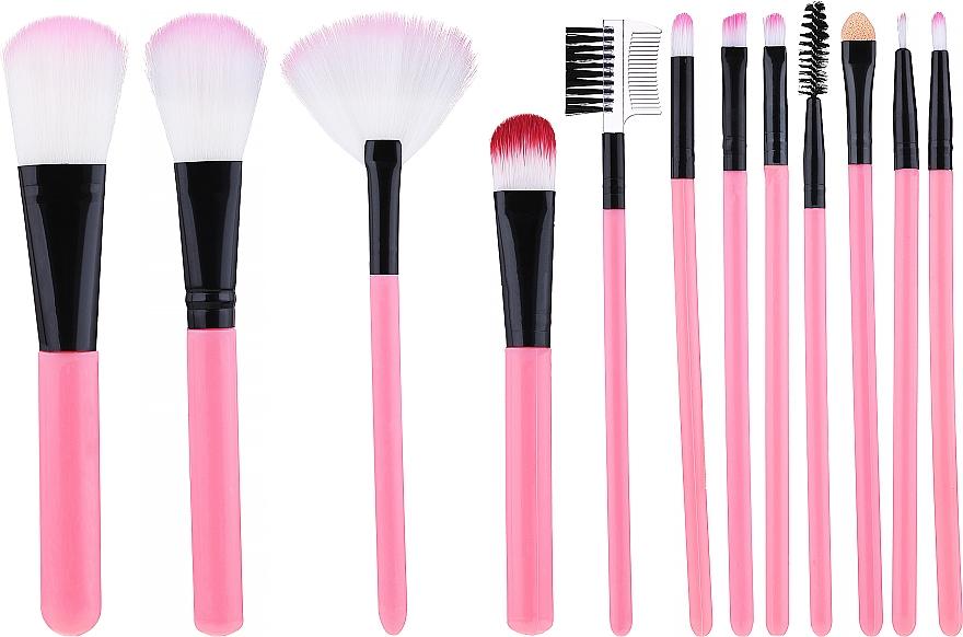 Set pensule pentru machiaj, roz - Lewer