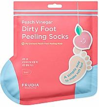 Parfumuri și produse cosmetice Mască-șosete pentru pedichiură, aromă de piersică - Frudia My Orchard Foot Peeling Mask