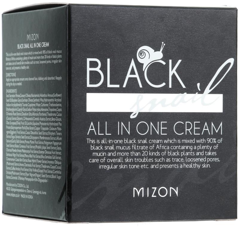 Cremă cu extract de melc negru - Mizon Black Snail All In One Cream  — Imagine N2