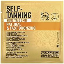 Parfumuri și produse cosmetice Șervețel auto-bronzat pentru piele sensibilă - Comodynes Self-Tanning Sensitive Skin