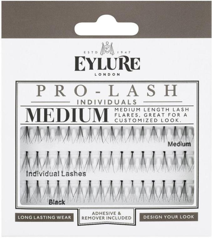 Extensii gene - Eylure Black Individual Pro Medium Length Lashes — Imagine N1