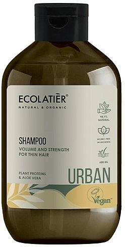 """Șampon pentru păr fin """"Proteine vegetale și aloe vera"""" - Ecolatier Urban Volume & Strength Shampoo"""
