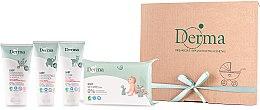 Parfumuri și produse cosmetice Set - Derma Eco Baby (cr/100ml+cr/100ml+shm/150ml+wipe/64)