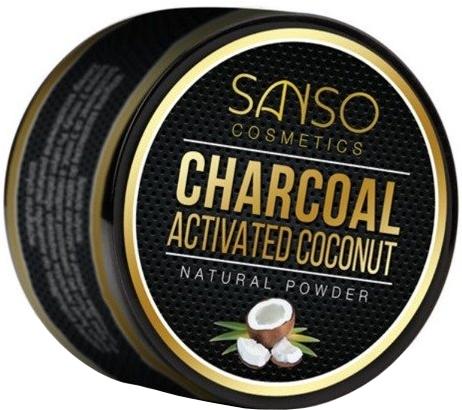 Praf cu efect de albire pentru dinți - Sanso Cosmetics Charcoal Activated Coconut Natural Powder