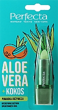 "Parfumuri și produse cosmetice Ruj igienic  nutritiv ""Aloe Vera și Cocos"" - Perfecta Aloe Vera + Coconut"