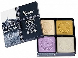 "Parfumuri și produse cosmetice Set ""Săpun Marsilia"" - La Corvette Les Paries Marseillais (soap/4x125g)"