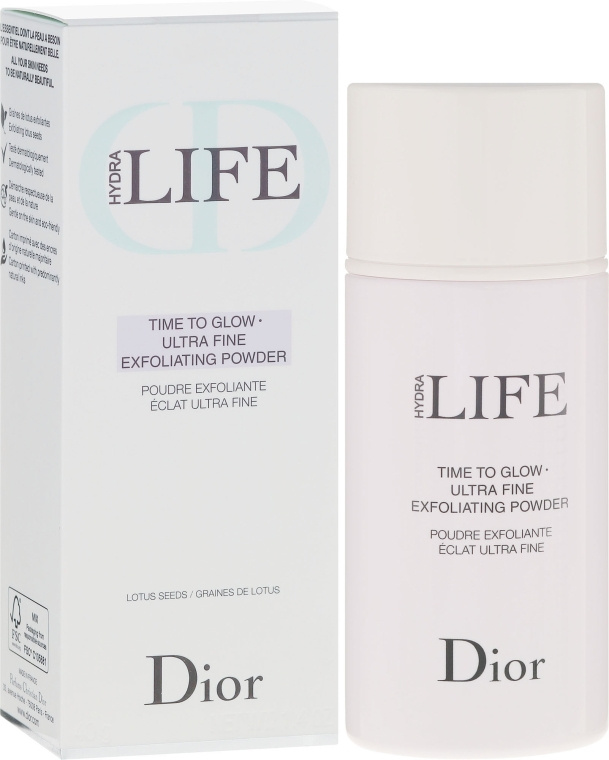 Scrub-Pudră pentru față - Dior Hydra Life Time To Glow Ultra Fine Exfoliating Powder — Imagine N1