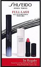 Parfumuri și produse cosmetice Set - Shiseido Full Lash Multi-Dimension Mascara (mascara/8ml + lipstick/2,5g + remover/30ml)