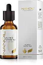 Parfumuri și produse cosmetice Ser facial cu ceai alb - Nanoil Aloe & White Tea Face Serum