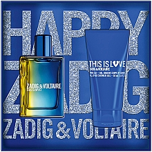 Parfumuri și produse cosmetice Zadig & Voltaire This is Love! for Him - Set (edt/50ml + sh/gel/50ml)
