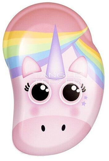 Perie de păr, pentru copii - Tangle Teezer The Original Mini Children Detangling Hairbrush Rainbow The Unicorn