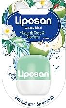 """Parfumuri și produse cosmetice Balsam de buze """"Apă de cocos și Aloe vera"""" - Liposan Pop Ball"""