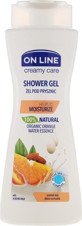 """Gel de duș """"Migdale și portocală"""" - On Line Shower Gel"""
