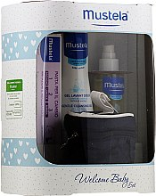 Parfumuri și produse cosmetice Set - Mustela Welcome Baby Set Blue (b/gel/200ml + b/cr/50ml + b/oil/100ml + case)