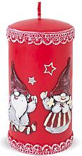Parfumuri și produse cosmetice Lumânare decorativă, roșie, 7x18 cm - Artman Dwarves
