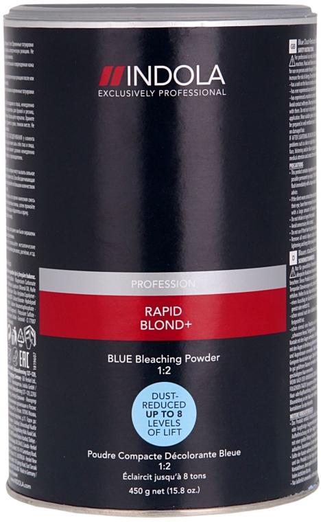 Pudră decolorantă, albastră - Indola Profession Rapid Blond+ Blue Dust-Free Powder — Imagine N1