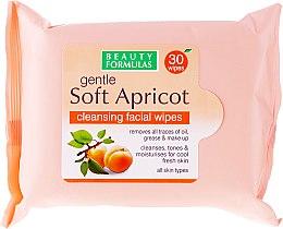Parfumuri și produse cosmetice Șervețele pentru curățarea feței - Beauty Formulas Gentle Soft Apricot Cleansing Facial Wipes