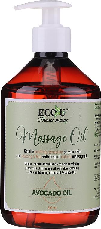 Ulei de masaj - Eco U Avocado Massage Oil