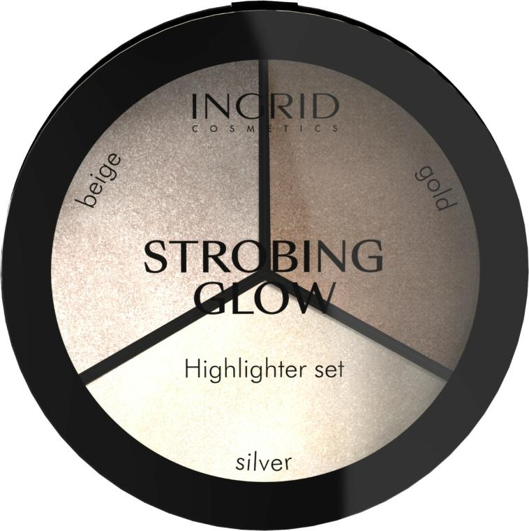 Paletă iluminator - Ingrid Cosmetics Strobing Glow Palette — Imagine N1