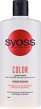 Parfumuri și produse cosmetice Balsam pentru păr vopsit și tonifiat - Syoss Color Tsubaki Blossom Conditioner