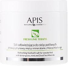 Parfumuri și produse cosmetice Sare de baie revigorantă pentru picioare - APIS Professional Fresh Lime Terapis Lime Peeling For Feet With Volcanic Lava