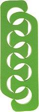 Parfumuri și produse cosmetice Separator degete pentru pedichiură 7583, verde - Top Choice