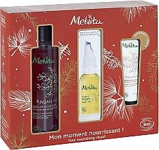 Parfumuri și produse cosmetice Set - Melvita Argan Bio Set (sh/gel/250ml + oil/50ml + h/cr/30ml)