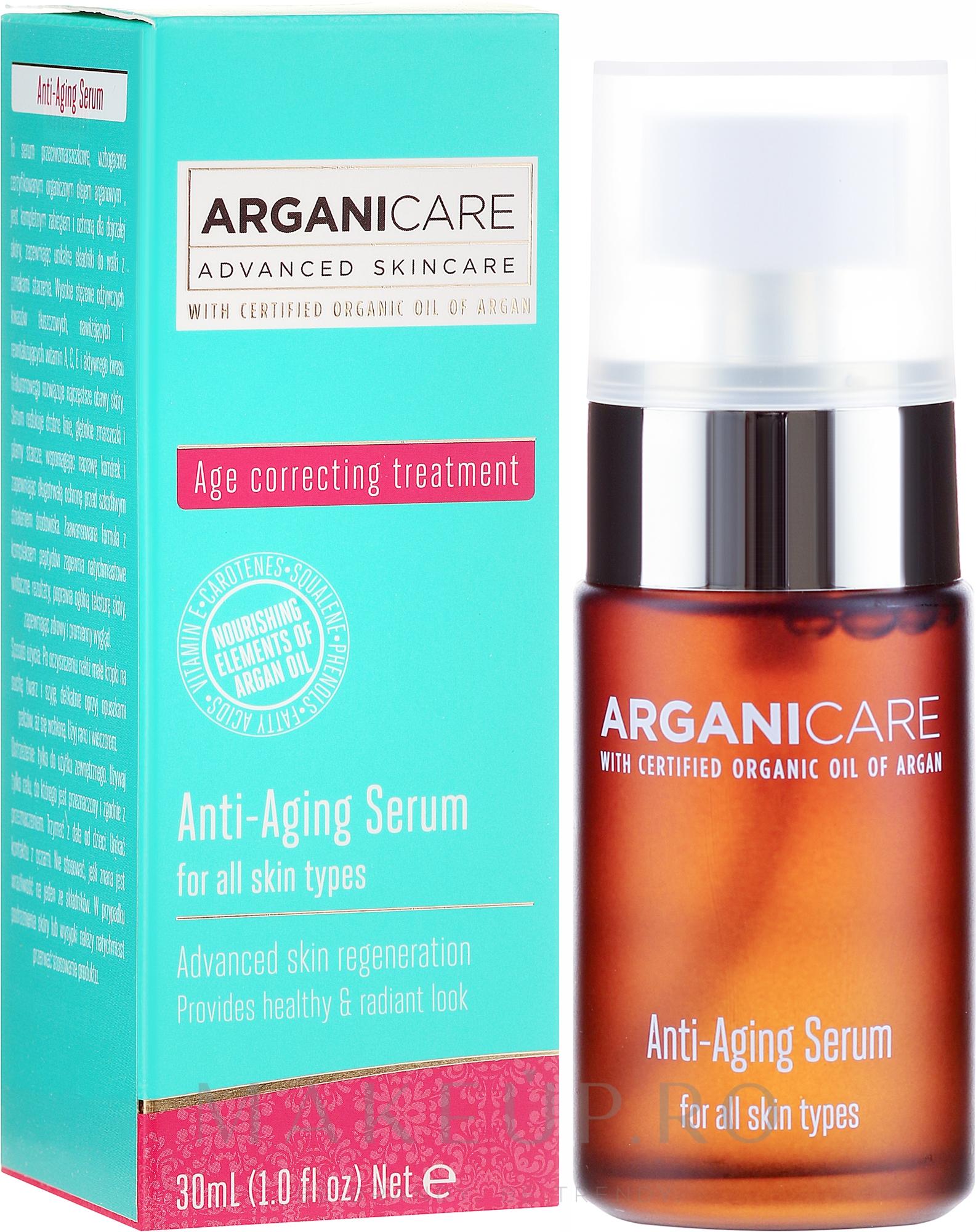 Ser anti-îmbătrânire pentru față - Arganicare Anti-Aging Serum — Imagine 30 ml