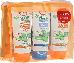 Parfumuri și produse cosmetice Set - Equilibra Aloe Line (cr/75ml + b/milk/75 + cr/75ml + bag)