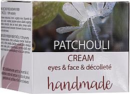 """Parfumuri și produse cosmetice Cremă pentru față și decolteu """"Patchouli"""" - Hristina Cosmetics Handmade Patchouli Eyes & Face & Decollete Cream"""