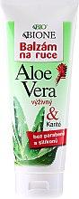 Parfumuri și produse cosmetice Balsam hidratant pentru mâini - Bione Cosmetics Aloe Vera Nourishing Hand Ointment With Collagen