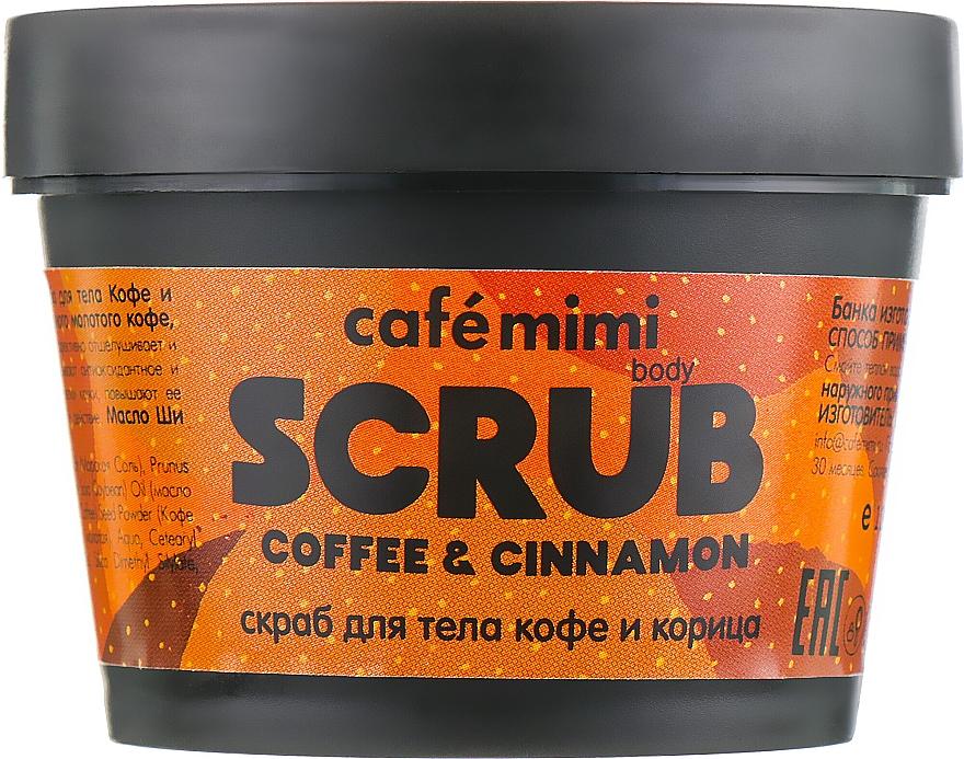 """Scrub pentru corp """"Cafea și scorțișoară"""" - Cafe Mimi Body Scrub Coffee & Cinnamon"""