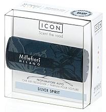 """Parfumuri și produse cosmetice Aromatizator auto """"Silver Spirit"""" - Millefiori Milano Icon Car Air Freshener Silver Spirit"""