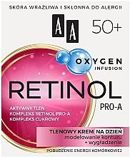 Cremă oxidantă pentru față 50+ - AA Oxygen Infusion Retinol Pro-A Day Cream — Imagine N1