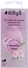 Parfumuri și produse cosmetice Burete de machiaj cu extract de trandafir - KillyS Blooming Pastel 3D Make-Up Sponge