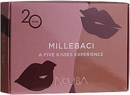 Parfumuri și produse cosmetice Set No. 2 - NoUBA Millebaci Box Set 5 Kisses Experience (lipstick/5x3ml)