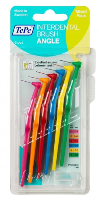 Set perii interdentare - TePe Interdental Brushes Angle 0,4-0,8 mm  — Imagine N1