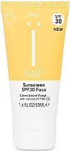 Parfumuri și produse cosmetice Cremă de protecție solară pentru față - Naif Sunscreen Face Spf30
