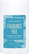 Parfumuri și produse cosmetice Deodorant - Schmidt's Deodorant Sensitive Skin Fragrance Free Stick